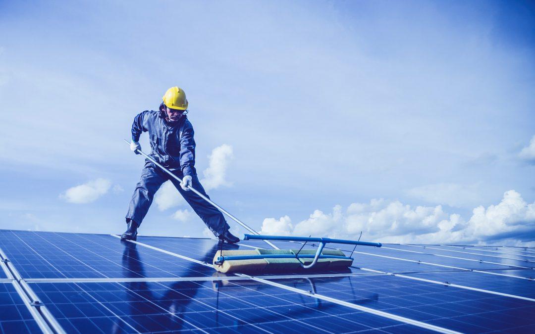 La pulizia dei pannelli fotovoltaici